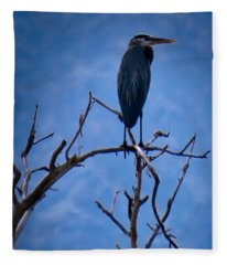 Great Blue Heron 3 Fleece Blanket