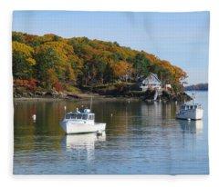 Great Diamond Island Maine Fleece Blanket