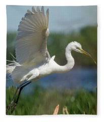 Great Egret 2014-1 Fleece Blanket