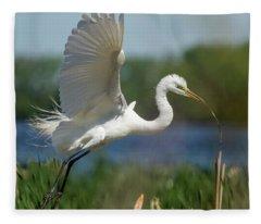 Great Egret 2014-1 Fleece Blanket