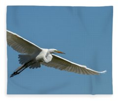 Great Egret 2014-2 Fleece Blanket
