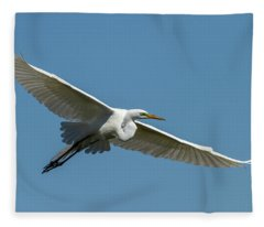 Great Egret 2014-2 Fleece Blanket