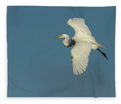 Great Egret 2014-9 Fleece Blanket
