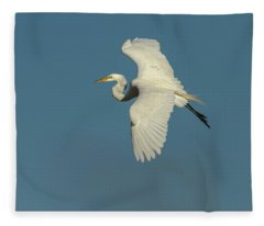 Great Egret 2014-9 Fleece Blanket