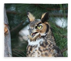 Great Horned Owl 5151801 Fleece Blanket