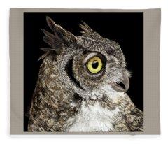 Great-horned Owl Fleece Blanket