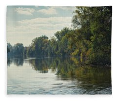 Great Morava River Fleece Blanket