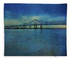Greater New Orleans Bridge Fleece Blanket