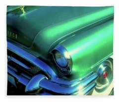 Green 1955 Buick Special Fleece Blanket
