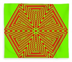 Green And Red Fusion  Fleece Blanket