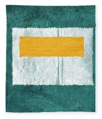Green And Yellow Abstract Theme Iv Fleece Blanket