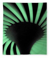 Green Fan Ceiling Fleece Blanket