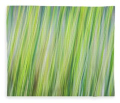 Green Grasses Fleece Blanket