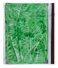 Green Jungle Fleece Blanket