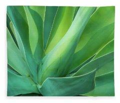 Green Minimalism Fleece Blanket