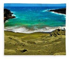Green Sand Beach Fleece Blanket