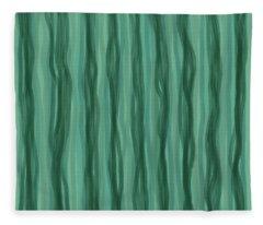 Green Stripes Fleece Blanket