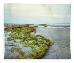 Green Tabletops Fleece Blanket