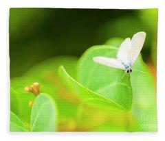 Green Wilderness Fleece Blanket