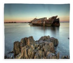 Greenpoint Sunset Fleece Blanket