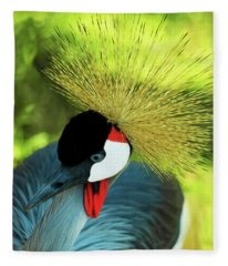 Grey Crowned Crane Gulf Shores Ab A101218 Fleece Blanket
