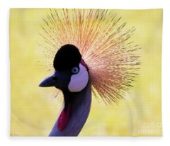 Grey Crowned Crane Gulf Shores Bl A101218 Fleece Blanket