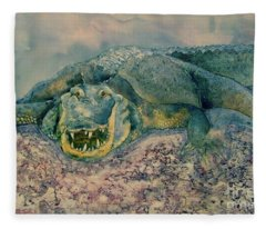 Grinning Gator Fleece Blanket