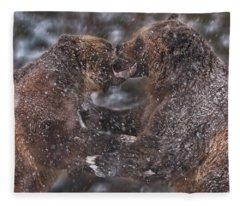 Grizzly Bears Fleece Blanket