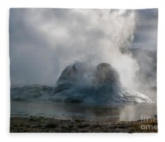 Grotto Geyser - Yellowstone National Park Fleece Blanket