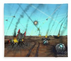 Ground Battle Fleece Blanket