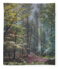 Group Of Trees In The New Forest. Fleece Blanket