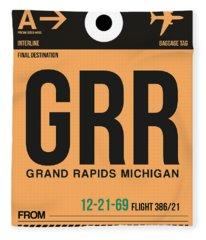 Grr Grand Rapids Luggage Tag I Fleece Blanket