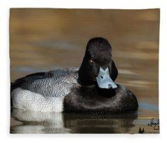 Grumpy Duck Fleece Blanket