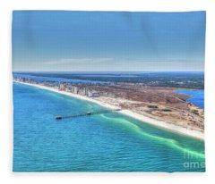 Gsp Pier And Beach Fleece Blanket