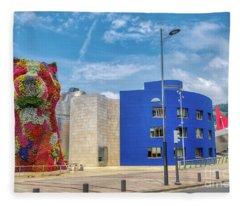 Guggenheim Museum 2 Fleece Blanket