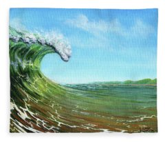Gulf Of Mexico Surf Fleece Blanket