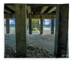 Gulf Shores Park And Pier Al 1649b Fleece Blanket