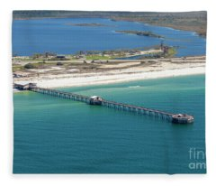 Gulf State Park Pier 7464n Fleece Blanket