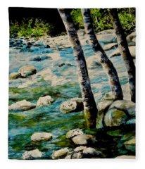Gushing Waters Fleece Blanket