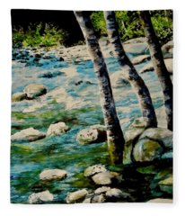 Gushing Waters Fleece Blanket