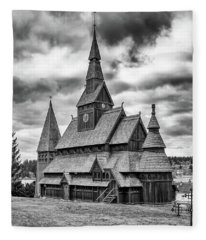 Gustav Adolf Stave Church, Harz Fleece Blanket