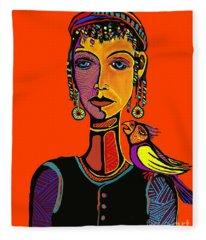 Gypsy Parrot Fleece Blanket