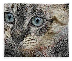 Gypsy The Siamese Kitten Fleece Blanket
