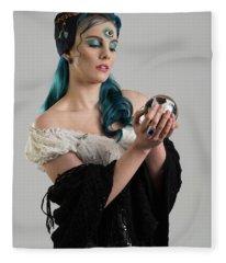 Gypsy With Third Eye Fleece Blanket