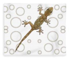 H Is For House Gecko Fleece Blanket