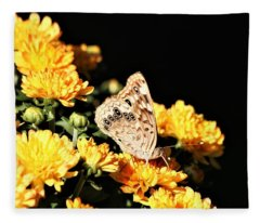 Hackberry Emperor On Gold Fleece Blanket