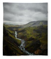 Haifoss Valley Fleece Blanket
