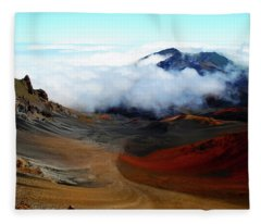 Haleakala Crater Fleece Blanket