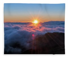 Haleakala First Light  Fleece Blanket