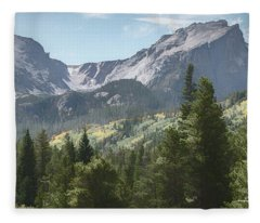 Hallett Peak Colorado Fleece Blanket